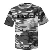T-SHIRT: JUST GET HIGH™ • CAMO BAR