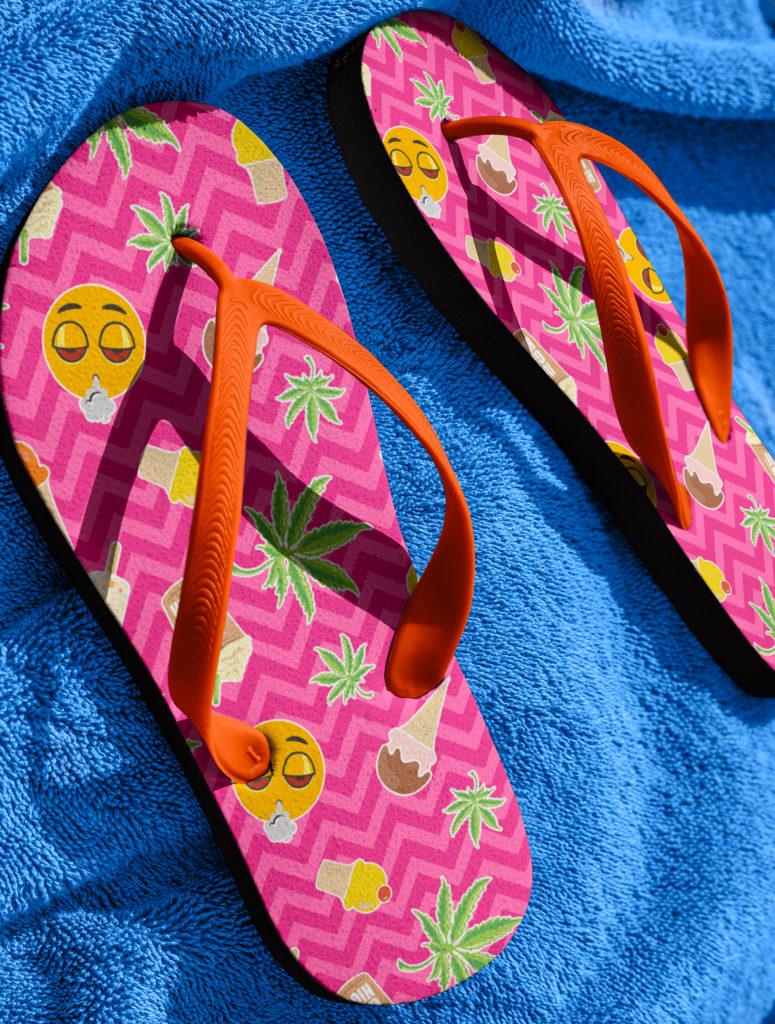 just get high_flip flops_zig zag summer