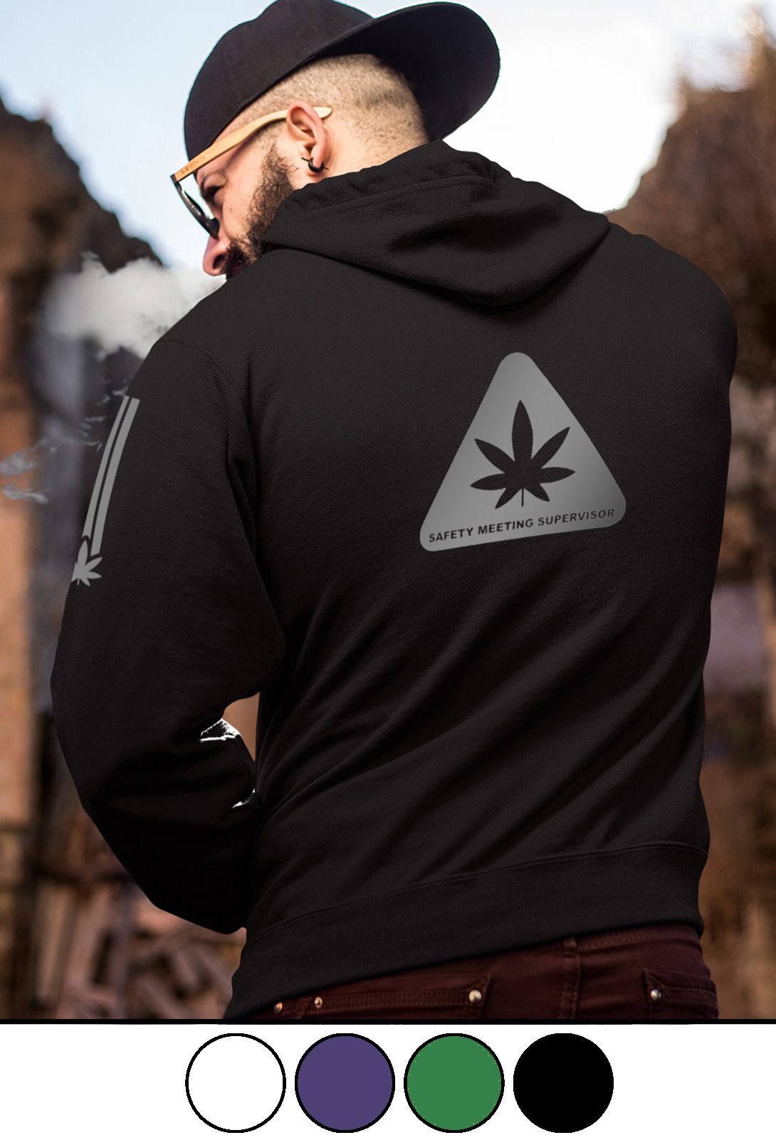 just get high_full zip hoodei_back_safety meeting_model