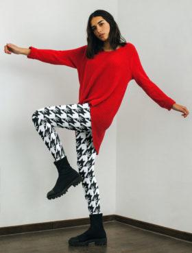 just get high_highest bitch_houndstooth leggings