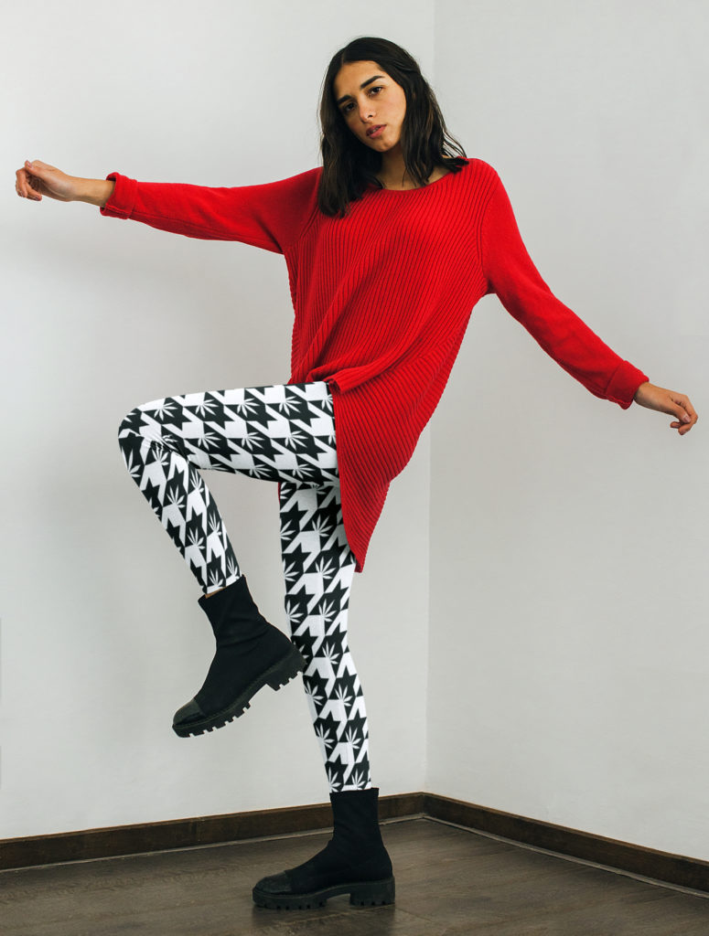 just get high_highest bitch_houndstooth leggings