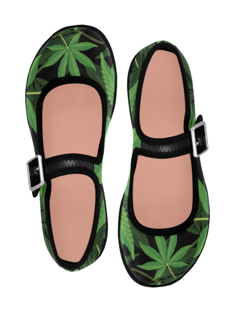 just get high_maryjane shoe_layered leaves_web
