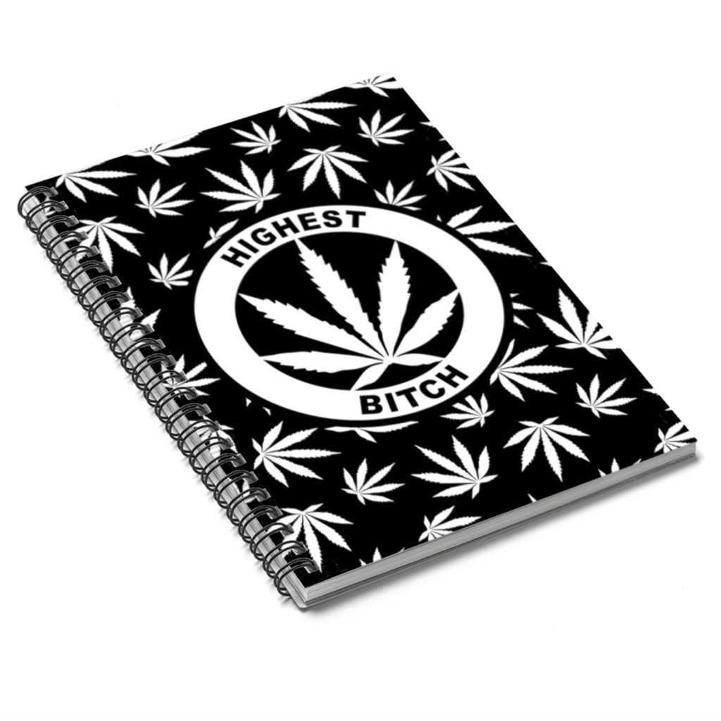 just get high_notebook_highest bitch logo