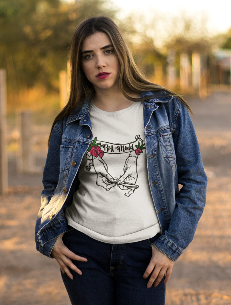 just get high_roll model shirt