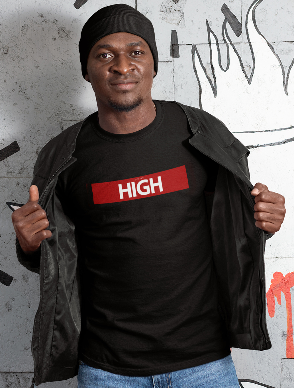 just get high_shirt_just get high red bar