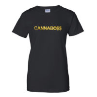 BOYFRIEND SHIRT: CANNABO$$ CAPS • GOLD FOIL