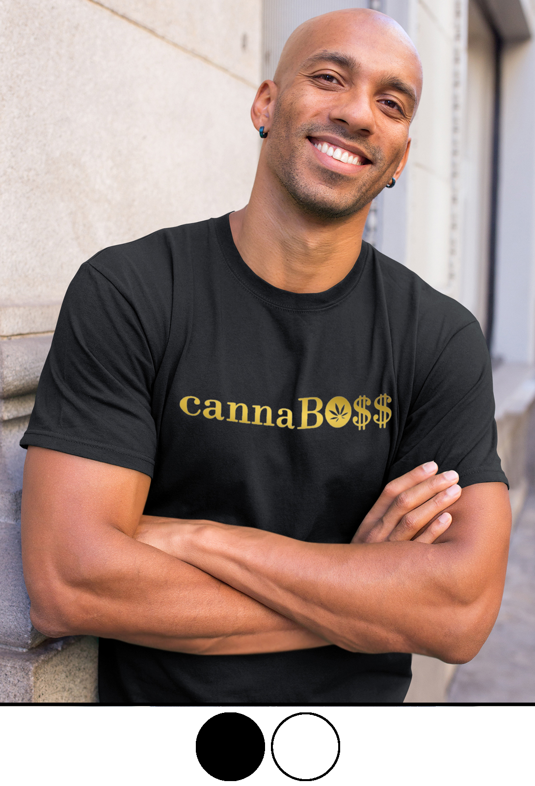 just get high_cannaboss_shirt_gold foil_colors