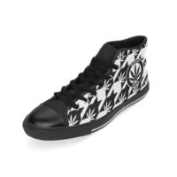 RUBBER TOED HIGHTOP SNEAKERS: HIGHEST BITCH • OVERSIZED HOUNDSTOOTH