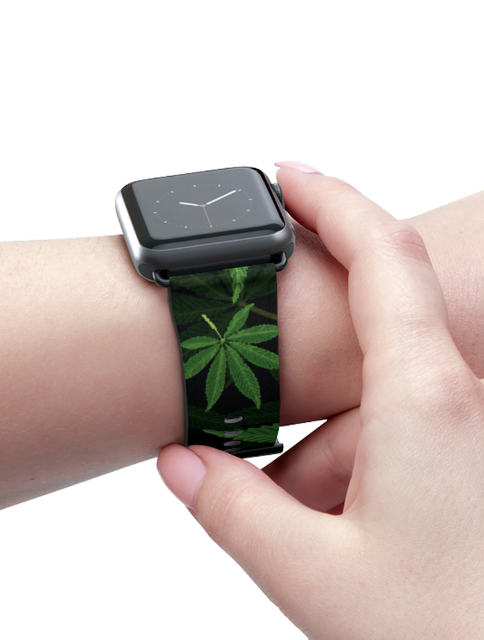 just get high_apple watch strap_layered leaves_web