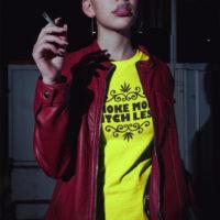 BOYFRIEND SHIRT: HIGHEST BITCH • SMOKE MORE
