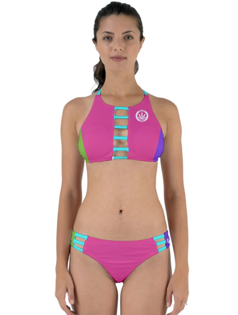 JUST GET HIGH_cut out bikini_colorblock_web