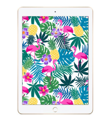 just get high_ipad_pineapple express print_pad