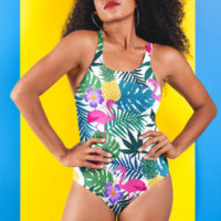 RACERBACK SWIMSUIT: PINEAPPLE EXPRESS