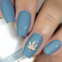NAIL ART: CRYSTAL LEAF