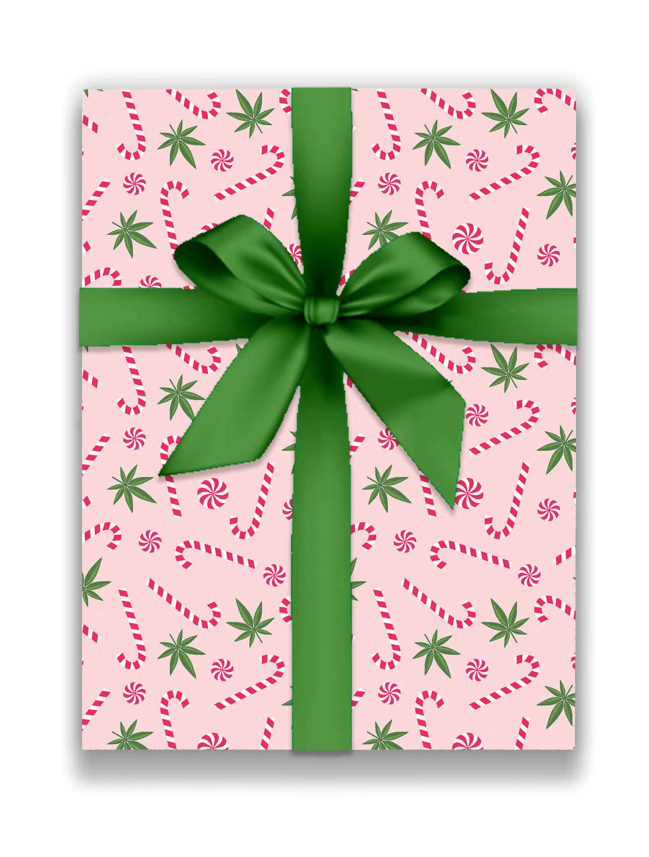 CANDY CANES AND CANNABIS_just get high_wraping PINK_WEB