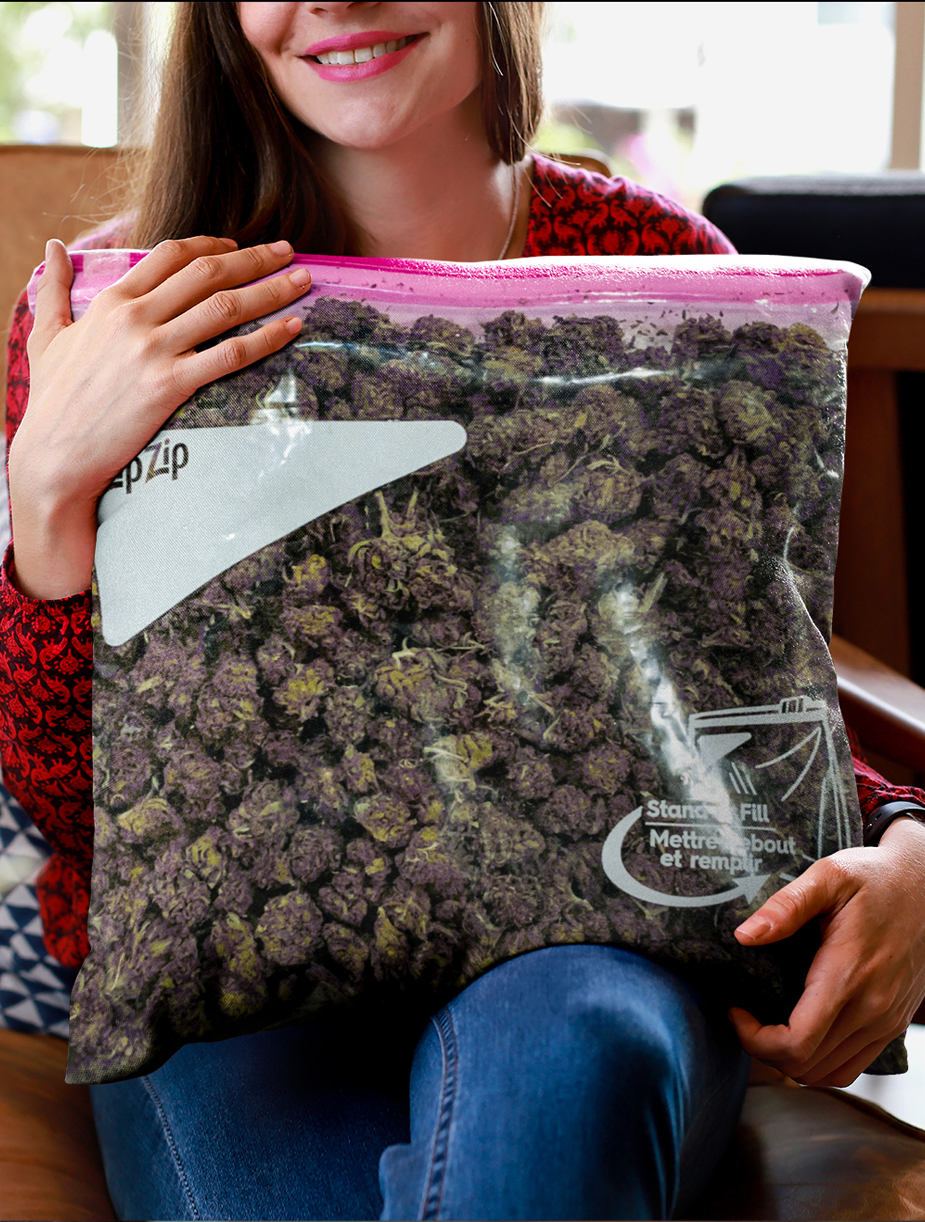 just get high_all over throw pillow_stash bag_zip zip_purps 1