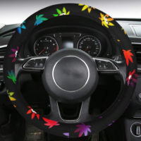 STEERING WHEEL COVER: TYE DYE KAWAII
