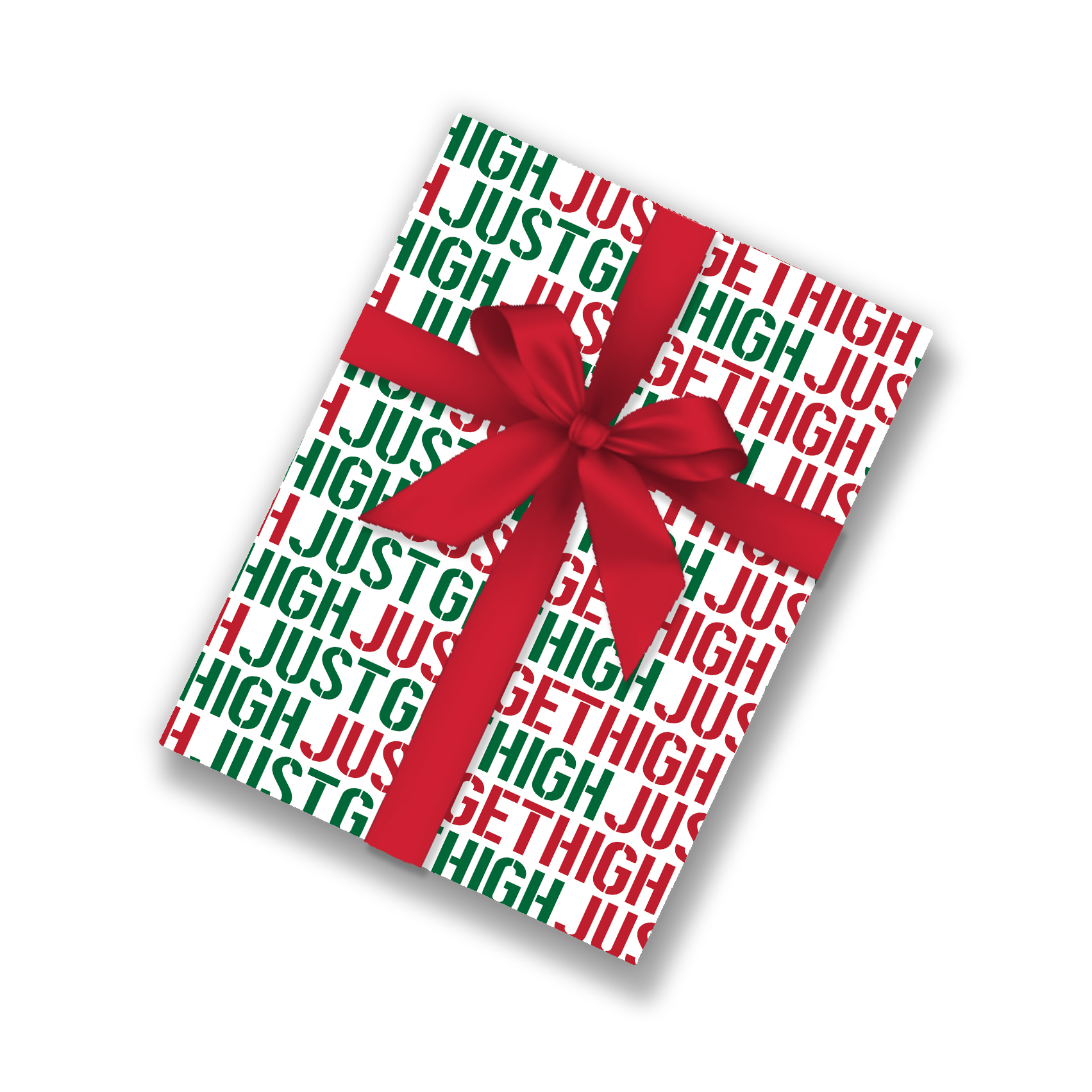 mock up_wrapping paper_just get high_logo