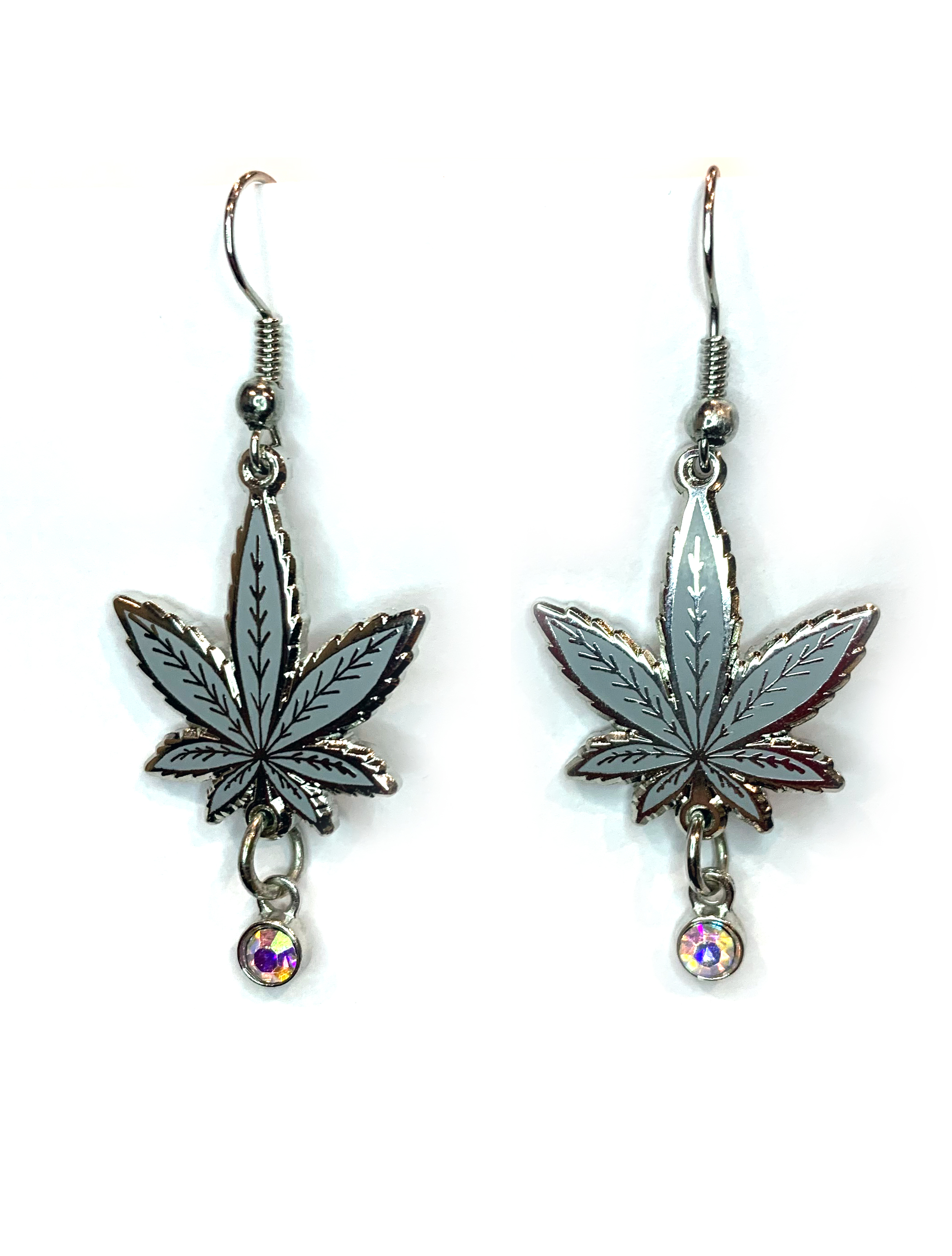 just get high_leaf earring_super silver haze_web