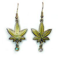 EARRINGS: GOLD LEAF • PINEAPPLE EXPRESS