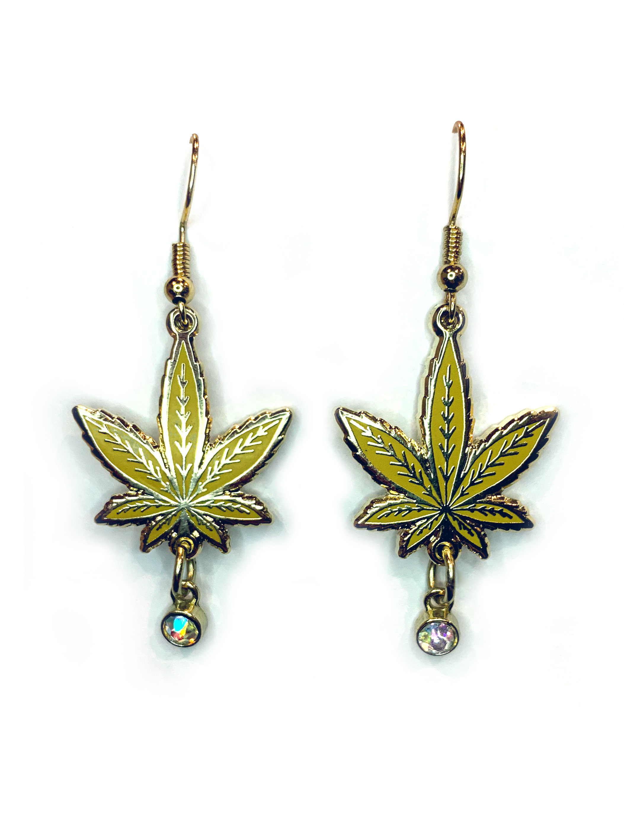 just get high_pineapple express leaf earrings_web