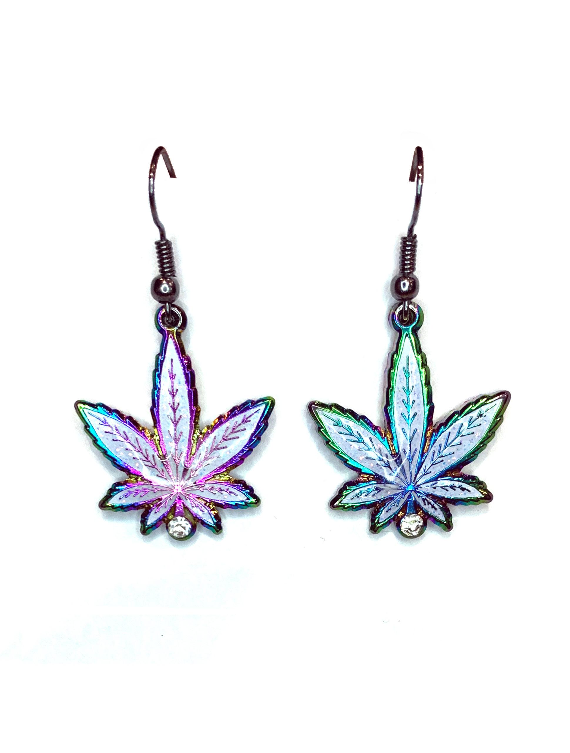 just get high_rainbow leaf earrings_aodized_web