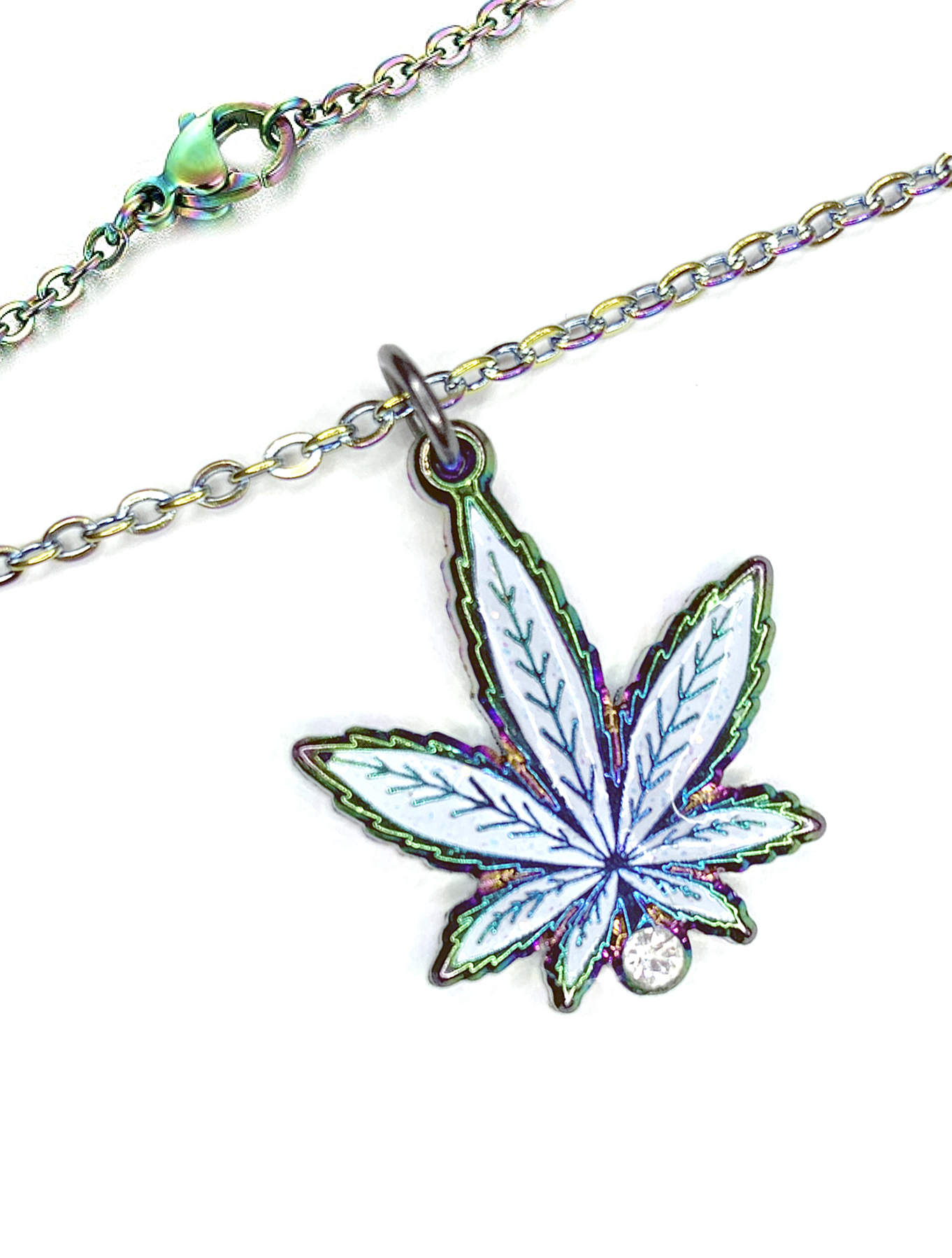 rainbow leaf necklace_web 1