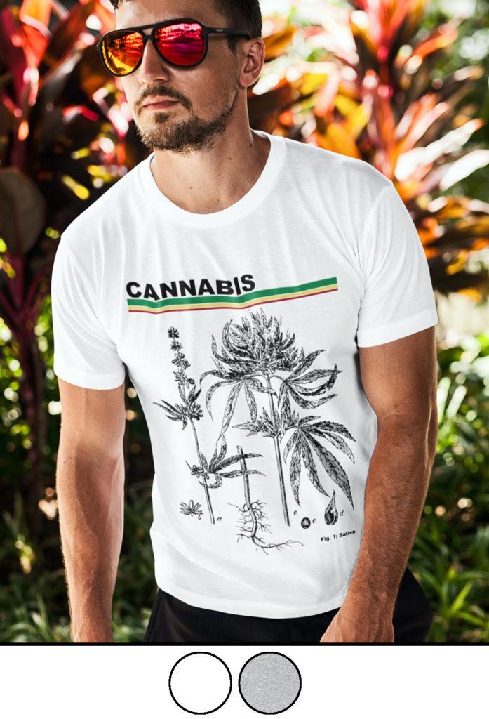 cannabis diagram_just get high_shirt_mens