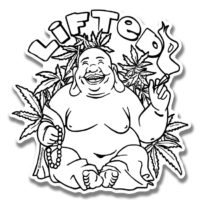 STICKER: LIFTED BUDDHA