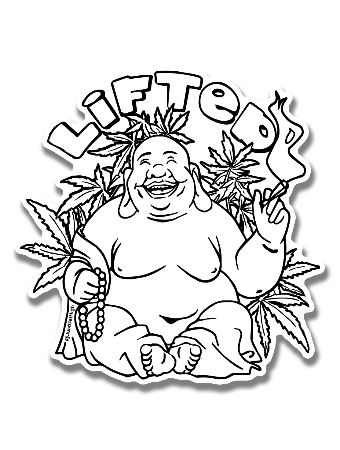 just get high_ stickers_buddha