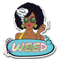 STICKER: WEED GIRL