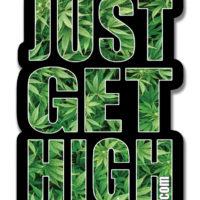 XL STICKER: JUST GET HIGH™ • CLASSIC FIELD LOGO