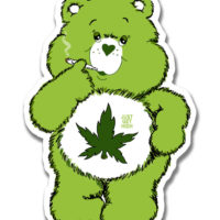 XL STICKER: CANNABEAR