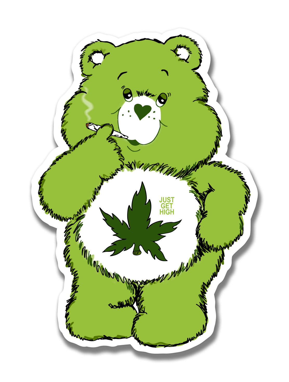 just get high_large sticker_cannabear