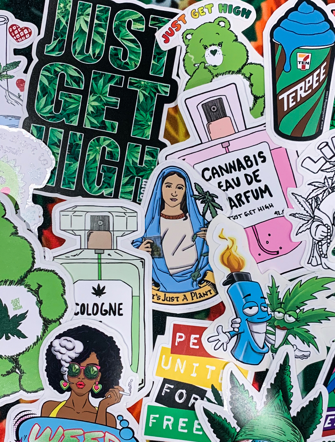 just get high_ stickers_slaps_mix