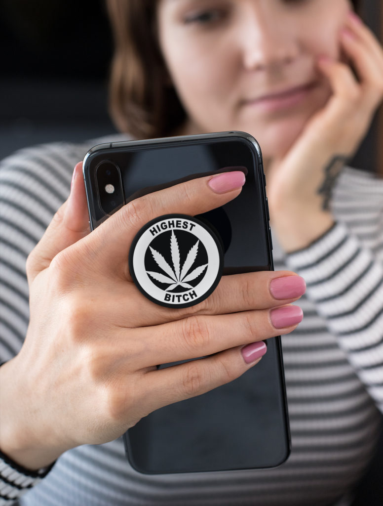 JUST GET HIGH_HIGHEST BITCH_POPSOCKET_BLACK