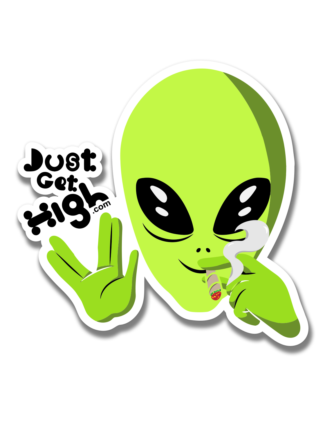 just get high_ stickers_beam me up