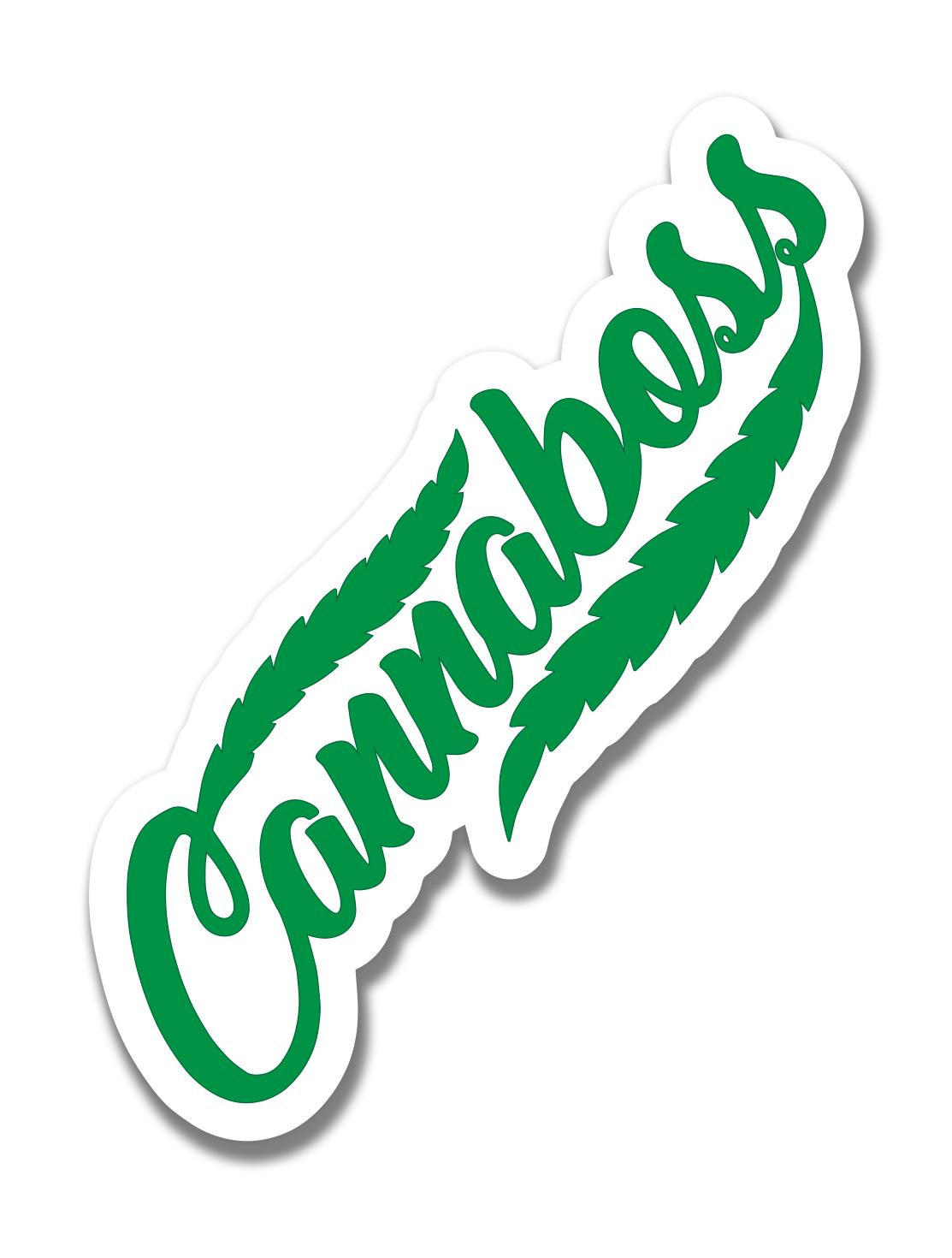 just get high_ stickers_cannaboss_green