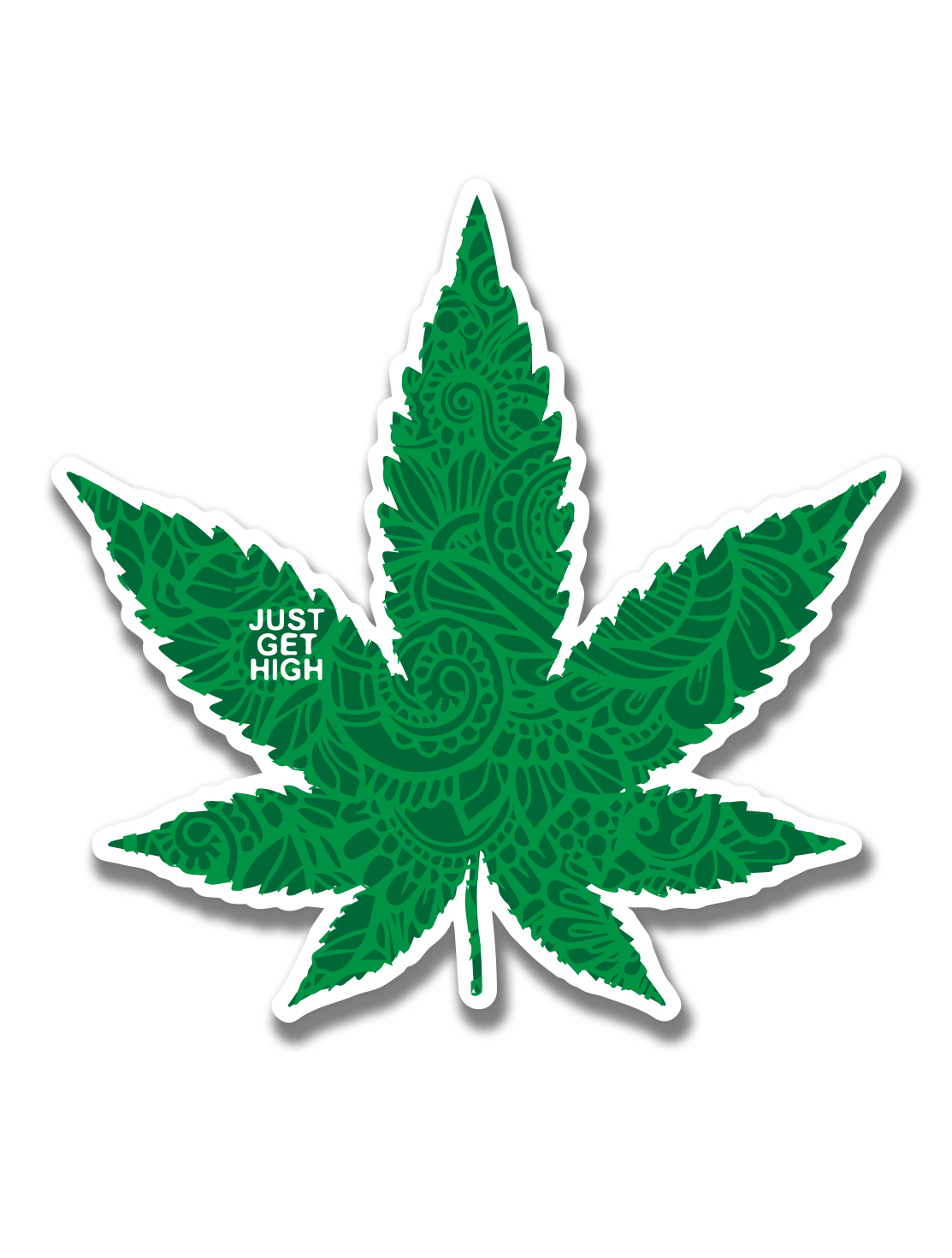 just get high_ stickers_fancy leaf