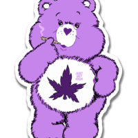 XL STICKER: CANNABEAR PURPS
