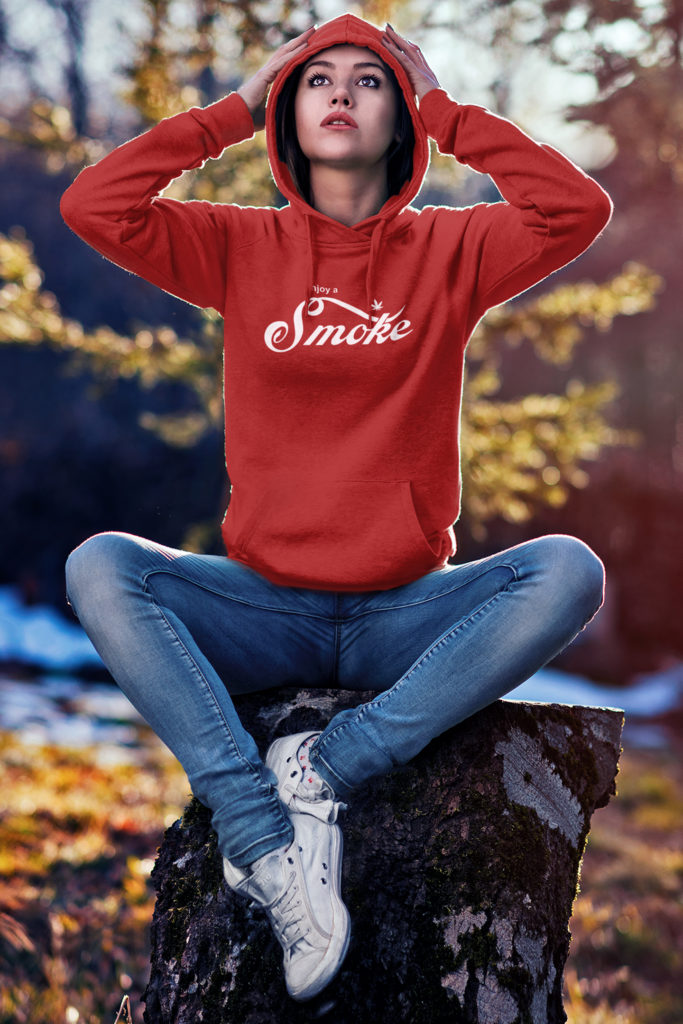 just get high_enjoy a smoke_hoodie_women