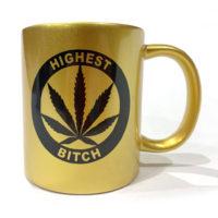 COFFEE MUGS: HIGHEST BITCH • LOGO • GOLD
