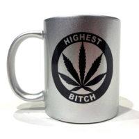 COFFEE MUGS: HIGHEST BITCH • LOGO • SILVER