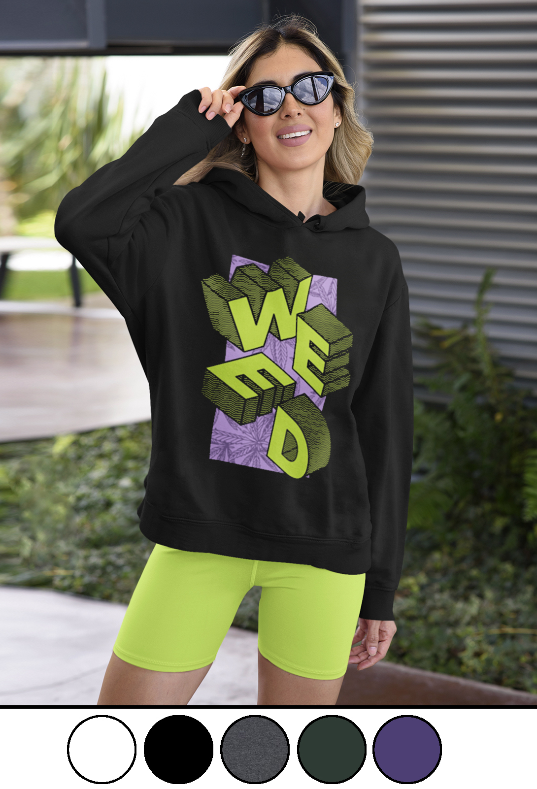 weed block_just get high_crew sweatshirt