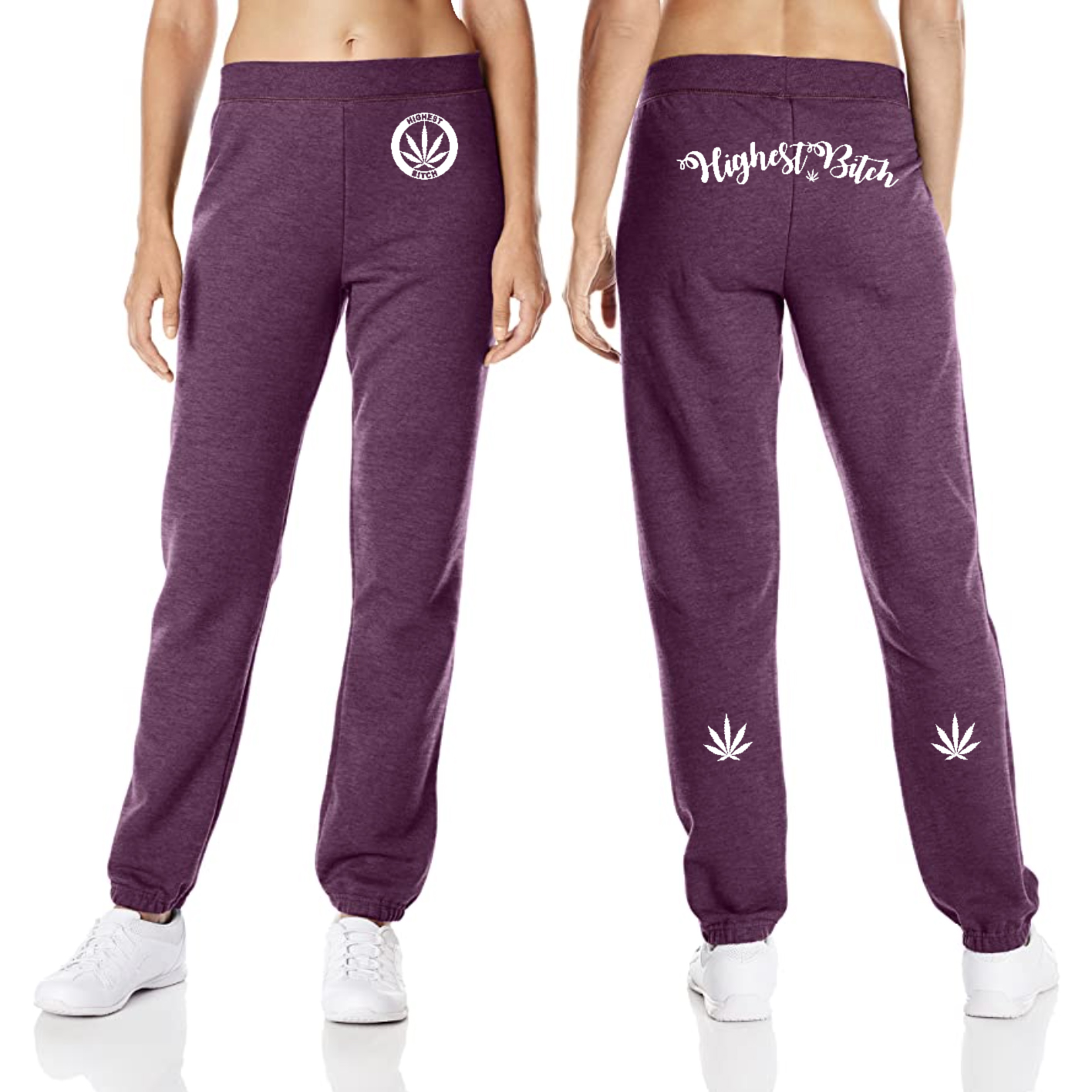 Hanes Sweatpants_highest bitch_purps