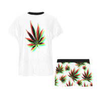 LOUNGE WEAR: SHORT SET • CHROMATIC LEAF