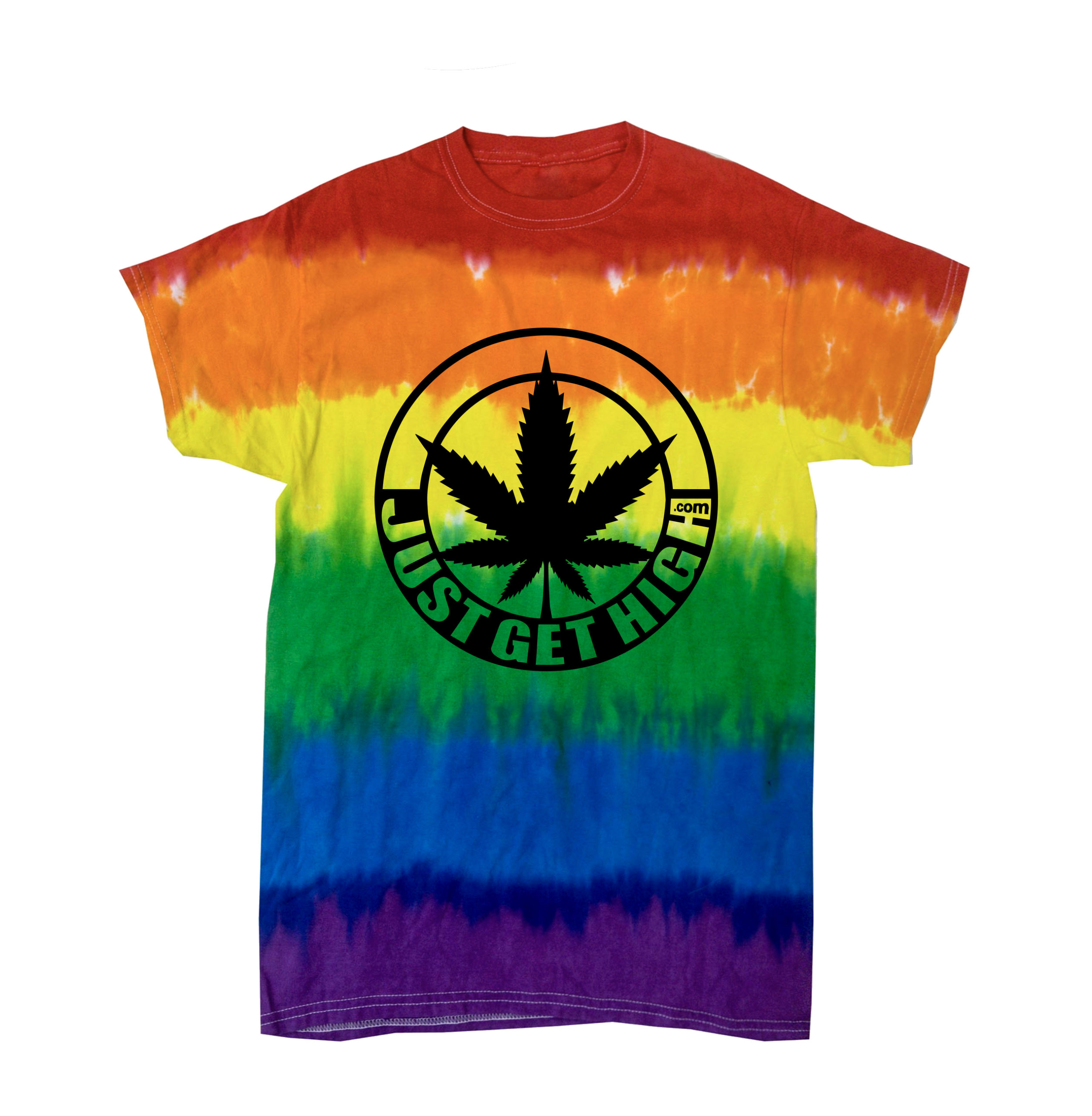 JUST GET HIGH_PRIDE_tie dye shirt
