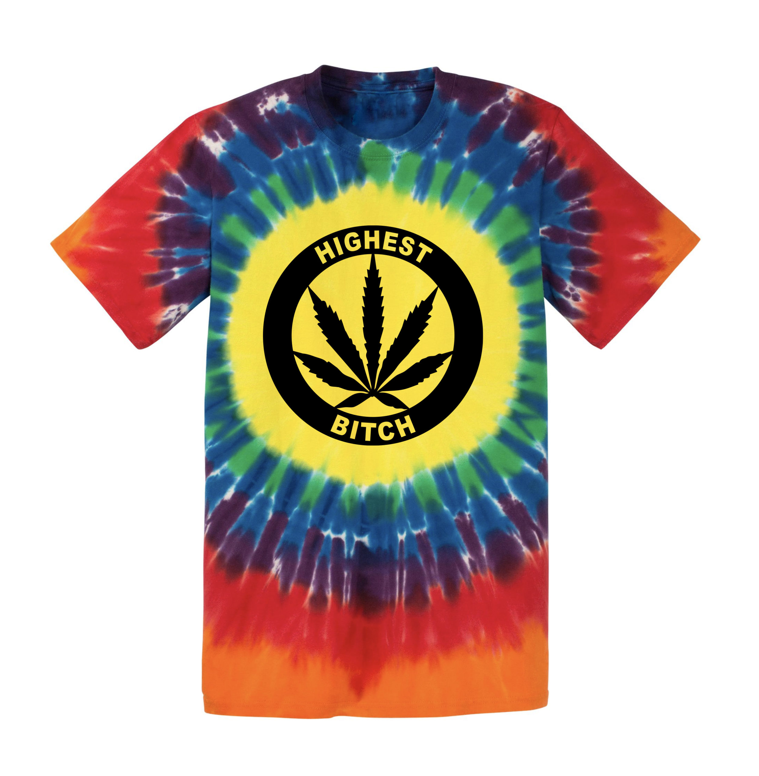 JUST GET HIGH_window_tye dye shirt_highest bitch