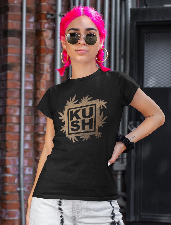 just get high_kush bleach_shirt