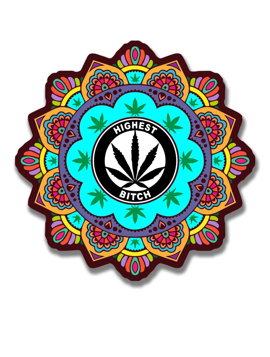 just get high_ stickers_HIGHEST BITCH_HENNA